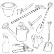 Garden tools — Stock Vector #7396465
