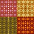 Four seamless abstract patterns — 图库矢量图片