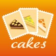Stock Vector: Cake stamps