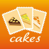 Cake stamps — Stock Vector