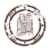 Prag damgası — Stok Vektör