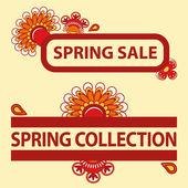 Sale titles — Stock Vector