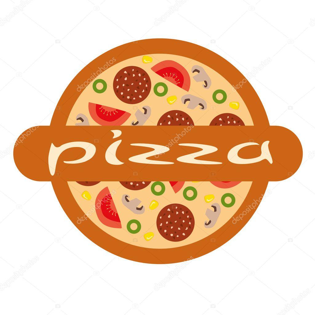 Baixar - Logotipo de pizza — Ilustração de Stock #7591350