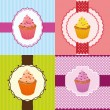 Cupcake invitation cards — Stockvektor