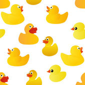 Ducks seamless pattern — Vector de stock