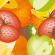 Fruits pattern — Stock Vector