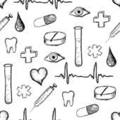 Medical seamless pattern — Wektor stockowy