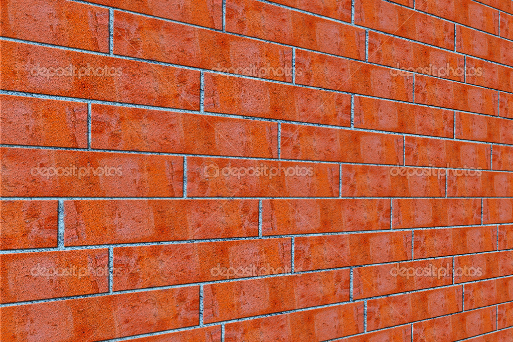 Texture. background. red brick wall — Photo #6867204