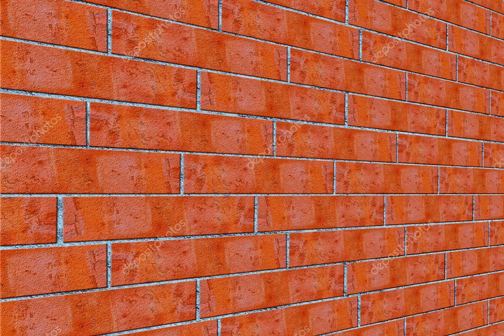 Texture. background. red brick wall — Foto de Stock   #6867204