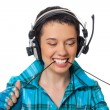 The girl listening to music - Stock Photo