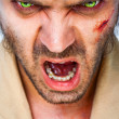 Zombie scary eyes - Stock Photo