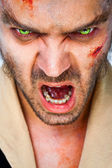 Zombie scary eyes — Stock Photo