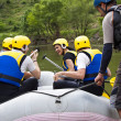 Group of ready for rafting — Stock fotografie