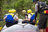 Group of ready for rafting — Stock Photo