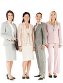 Group businesswomen standing — Stock Photo