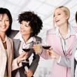 Businesswomen celebrating — Stock Photo