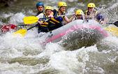 Boat whitewater rafting — Stock Photo