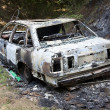 Burnt out car — Stock Photo