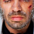 Male frozen face — Stock Photo