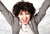 Happy excited woman — Stock Photo