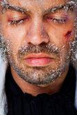 Male frozen face — Стоковое фото