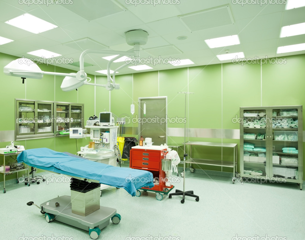 Empty operating room in hospital with operatiom table — Stock Photo #7691880