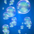 Soap bubble abstract background — Stock Vector