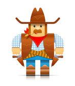Cowboy origami toy — Stock Vector