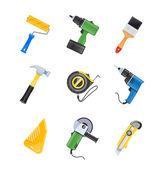 Building tool icon set — Stock Vector