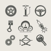 Car part set of repair icon — Vetor de Stock