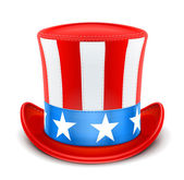 Usa top hat for independence day — Stock Vector