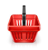 Red shopping basket — Stock Vector