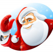 Happy Santa Claus face greeting — Vector de stock