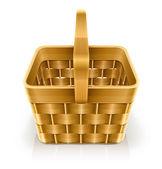 Wooden weave basket — Stock Vector