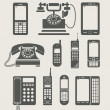 Phone set simple icon — ストックベクタ #8055012