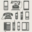 Phone set simple icon — Wektor stockowy  #8055012
