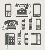 Teléfono programado simple icono — Vector de stock