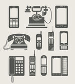 Téléphone en mode icône simple — Vecteur