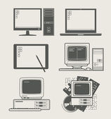 Computer set icon — Stockvector