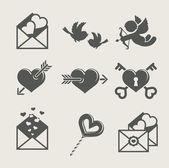 Saint valentine's day set icon — Stock Vector