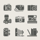 Camera new and retro icon — Stock Vector