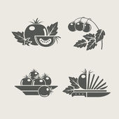 Tomato set icons — Vector de stock