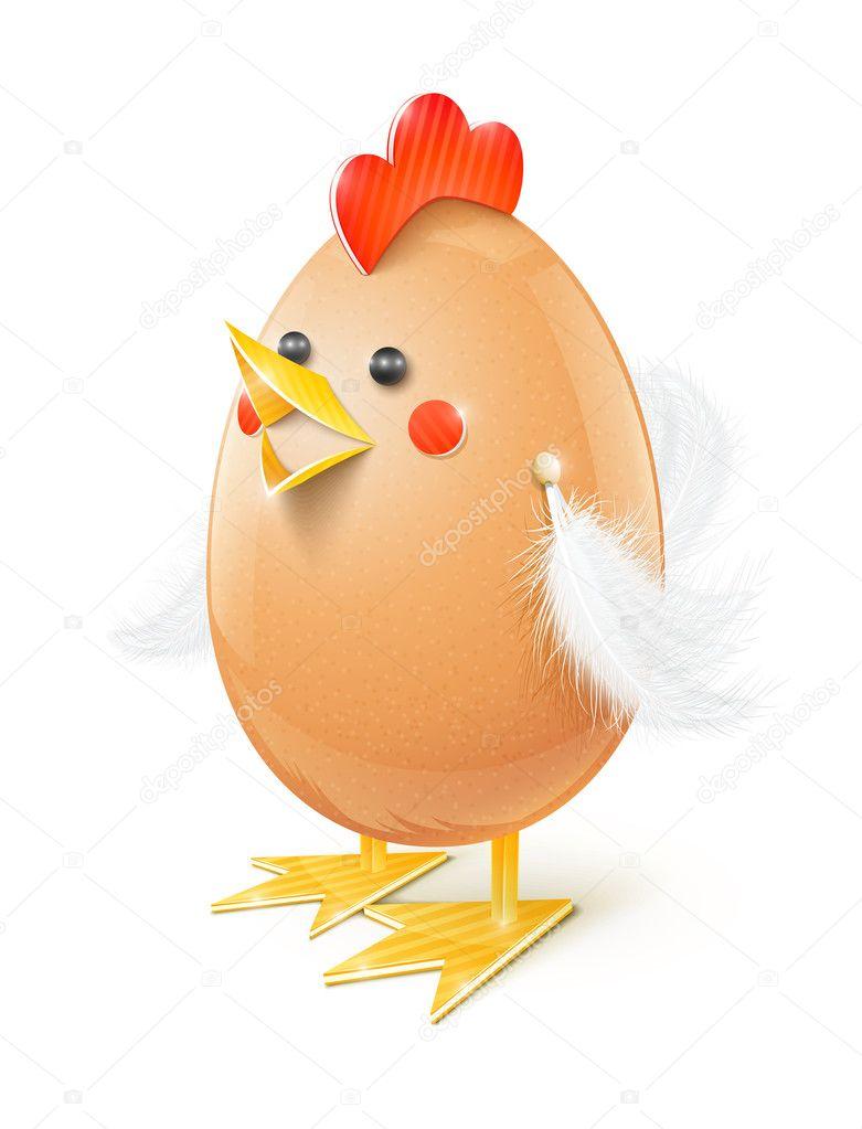 Как сделать курицу из яиц