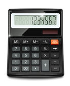Electronic calculator — Stockvector