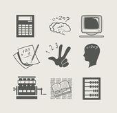 Dispositivos para definir ícone de cálculo — Vetorial Stock
