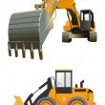 Постер, плакат: Construction machines