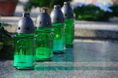 Green candles — Stock Photo