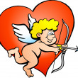 Hand-drawn Vector illustration of an Amor Angel Boy - 