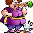 Hand-drawn Vector illustration of an Fat Lady — Stock Vector #7665096