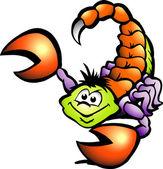 Hand-drawn Vector illustration of an Danger Scorpion — Stock Vector